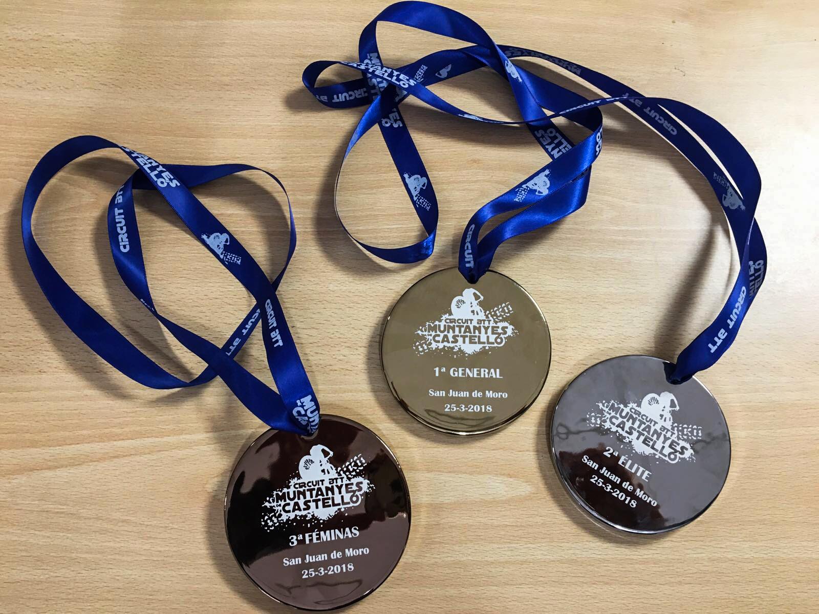 Medallas y maillot para los ganadores de la XII Marxa Senglars 2018