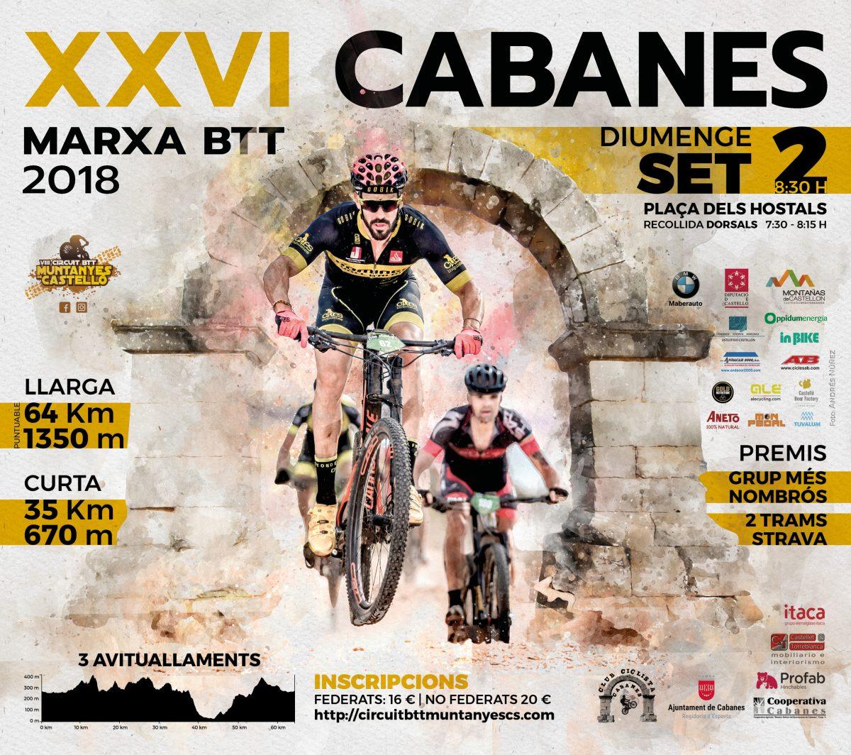 Cartel XXVI Marxa Btt Cabanes